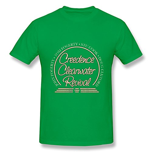 HUBA Men's T Shirt Creedence Clearwater Revival ForestGreen Size (Mugs Clearwater)