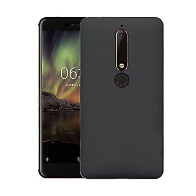 AVIDET Nokia 6.1 (2018) Case, Lightweight Slim Anti-fingerprint Hard Polycarbonate Cover for Nokia 6.1/Nokia 6 2018 (Black? from AIWEIERDI
