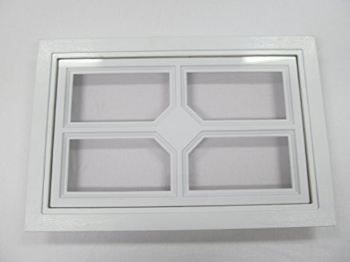 Garage Door Windows Square Design w/ cross Not Fake or Decals
