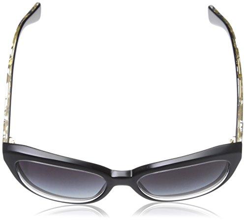 Dolce & Gabbana Lunettes de soleil 4250 Gold Leaf / Ivory / Brown Gradient Crystal on black/Grey gradient