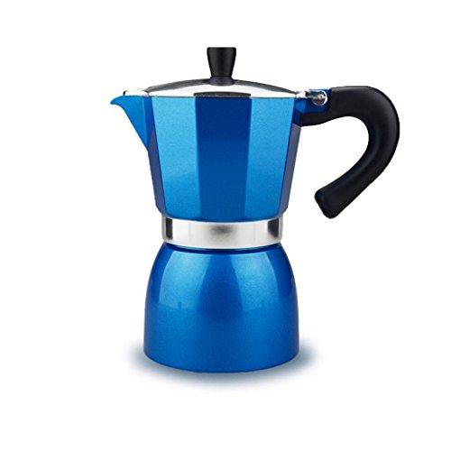 Moka Espresso Maker, Sayhi 240ML Color Aluminum Stovetop Espresso Pot Moka Express Coffee Maker, Makes 4 Cup (Blue) (Coffee Maker With Grainder compare prices)