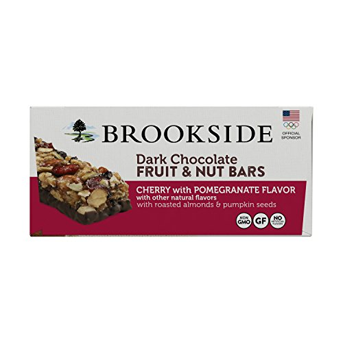 Brookside Dark Chocolate Fruit and Nut Bars, Cherry with Pomegranate, 1.4 Ounce (Pack of 12) (Dark Chocolate Bar With Nuts)