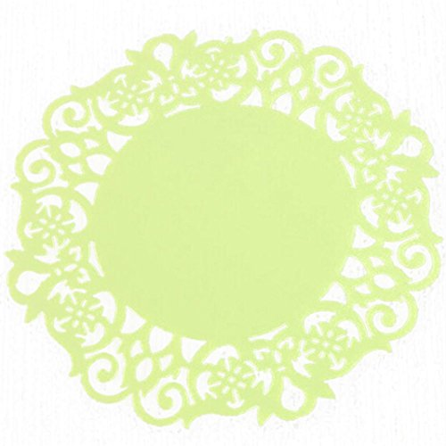 Fheaven Silicone Round Coasters, Flower Doilies Silicone Coaster Tea Cup Holder Coffee Mug Place Mats Pad Insulation Lacework Placemat Lau (A) by Fheaven (Image #5)