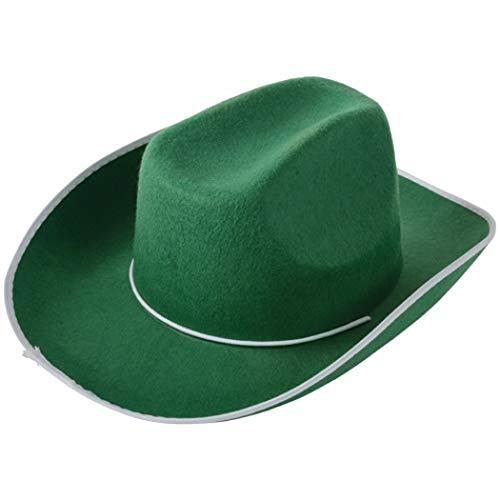 U.S. Toy H387 Cowboy Hat, Green]()