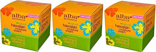 Alba Botanica Jasmin & Vitamin E Moisture Cream , 3 oz. (Set of 3)