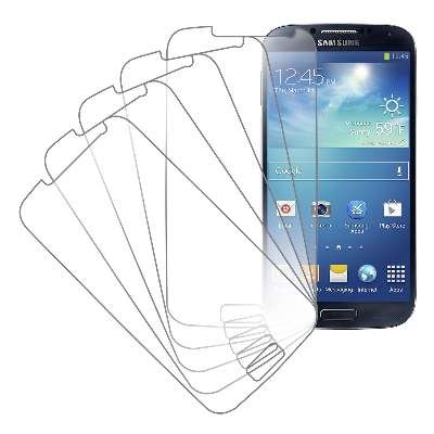 Samsung Galaxy S4 Screen Protector Cover, MPERO Collection 5 Pack of Clear Screen Protectors for Samsung Galaxy S4 / S IV