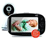 Summer Baby Pixel Zoom HD Video Baby Monitor with 5' Display and Remote Steering Camera - Baby Video Monitor with Clearer Nighttime Views and SleepZone Boundary Alerts