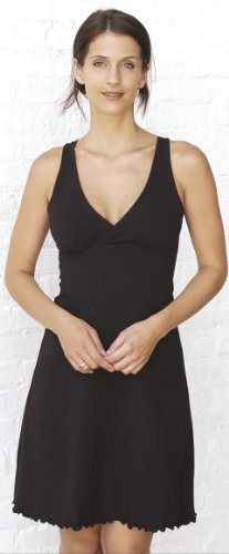 Sleepy Dress Organic (Majamas The Organic Sleepy Dress - Black - X-Large)