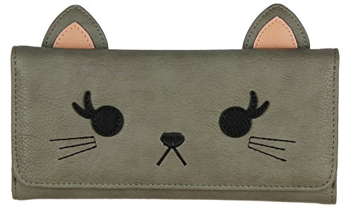loungefly-grey-cat-trifold-wallet
