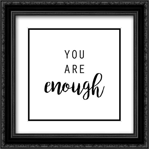 Quotable III 20x20 Black Ornate Frame and Double Matted Art Print by Hambly, ()