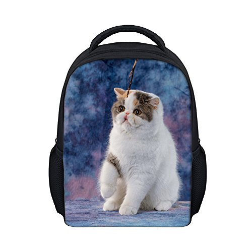 Beauty Collector Navy Blue Preschool Bookbags for Toddler, Customized Cat Backpack Daypack Mini ()