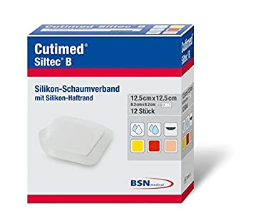 cutimed SilTec B Espuma Vendajes con borde antiadherente 22,5 x 22 ...