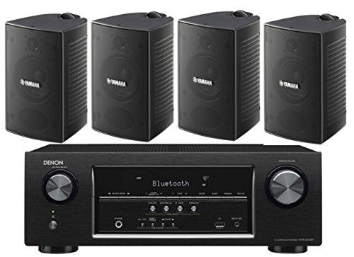 Denon-52-Channel-700-Watt-Full-4K-Ultra-HD-Bluetooth-AV-Home-Theater-Receiver-Yamaha-High-Performance-Natural-Surround-Sound-2-Way-IndoorOutdoor-Weatherproof-Speaker-System-Set-Of-4