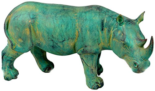 Galt Jungle (Galt International Decorative Standing Rhino Figurine, Blue)