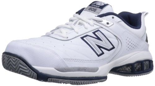 New Balance Men's MC806 Tennis Shoe,White,9.5 4E US