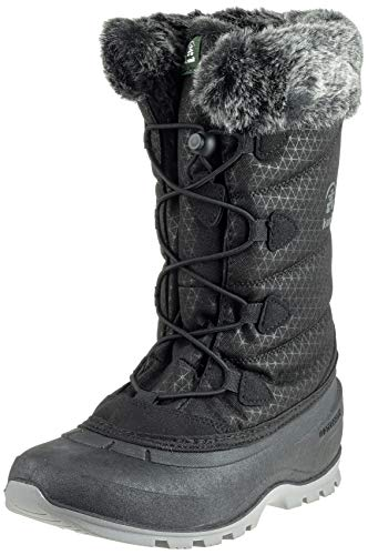 Kamik Women's MOMENTUM2 Snow Boot, Black, 8 Medium US ()