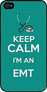 Keep Calm I'm an EMT-Teal - Hard Black Plastic Snap - On Case -Apple Iphone 6 Plus ONLY- Great Quality!