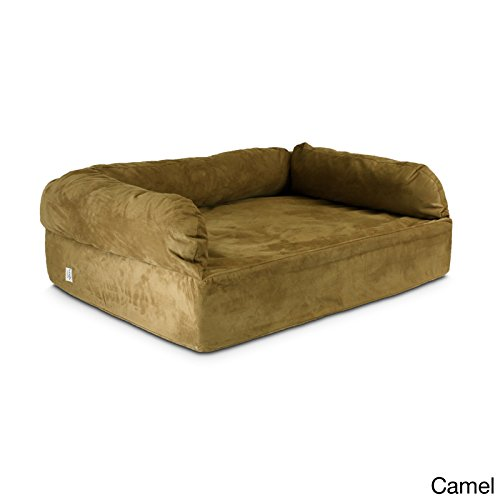 Snoozer Pet Products - Luxury Dog Sofa with Memory Foam | X-Large - Camel