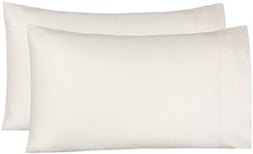 AmazonBasics Microfiber Pillowcases - 2-Pack, Standard, Yellow Scallop