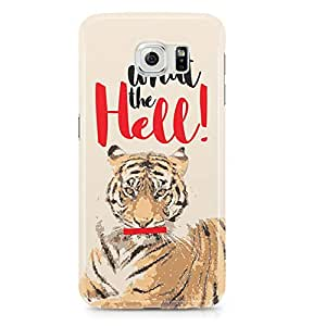 Samsung Galaxy S6 Edge Case Tiger What The Hell-Sleek Design Durable Wrap Around Phone Cover