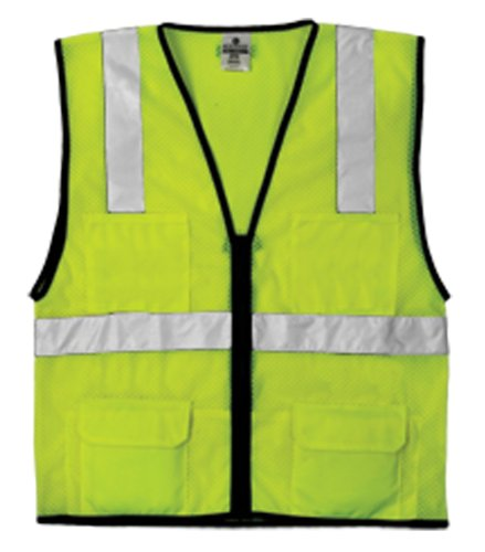 ML Kishigo 1191 Economy Series Ultra Cool Mesh 6 Pocket Vest, Fits Large and Extra Large, Lime