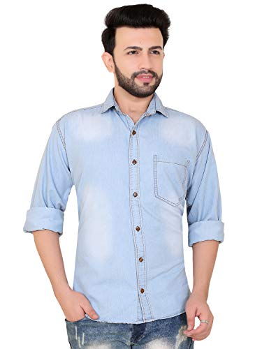A.B.C Garments Denim Light Blue Casual Shirt