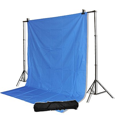 ePhoto Professional Photography Video Chroma Key Chromakey Blue 10x12 Ft Supporting Stands System with Case by ePhotoINC TB301012BU by Weifeng