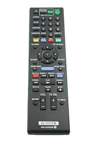 RM-ADP069 Replacement Remote Control for Sony AV System BDV-N790W BDV-T57 BDV-E580 BDV-T58 HBD-T79 HBD-E3100 HBD-E280