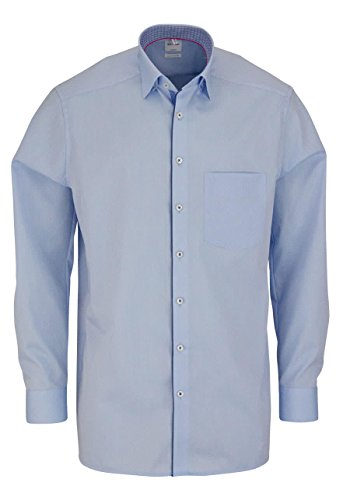 OLYMP Luxor comfort fit Hemd Langarm Under Button Down Kragen hellblau