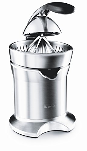 Breville 800CPXL Die-Cast Stainless-Steel Motorized Citrus Press (Best Electric Orange Juicer)