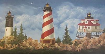 York Wallcoverings Lighthouse Wallpaper Border 1122 WT