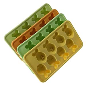 Water & Wood Fish Freeze Party Bar Drink Ice Cream Caddy Mould Mold Cube Cup Cake Maker Tray(Color Random)