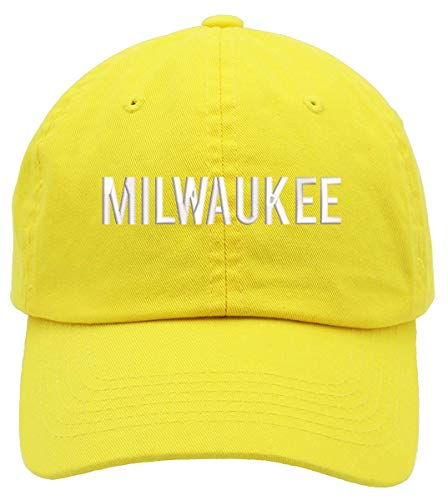 Milwaukee Text Embroidered Low Profile Soft Crown Unisex