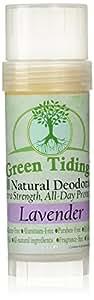 Green Tidings Organic All Natural Deodorant, Lavender, 2.7 Ounces