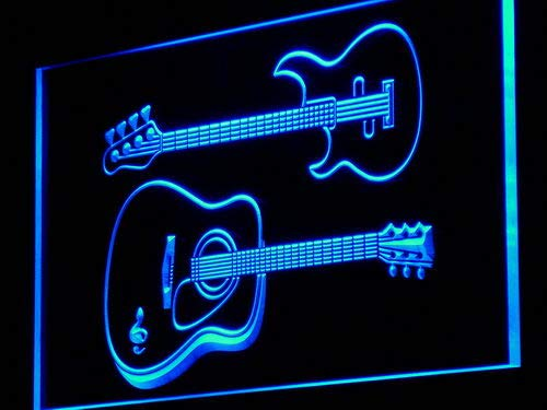 ADVPRO Guitars Rock n Roll Bar Music LED Sign Neon Light Sign Display m014-b(c)