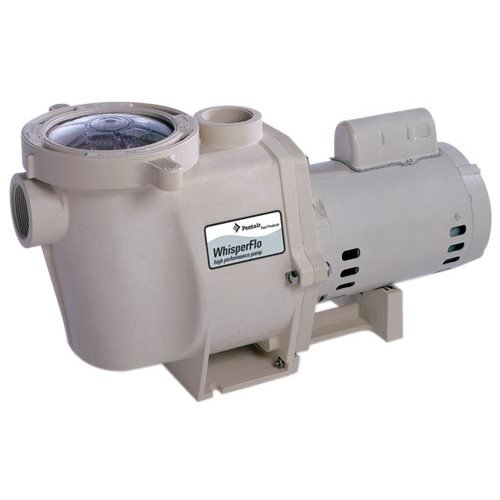 Pentair 011772 WhisperFlo High Performance Standard Efficiency Single Speed Up Rated Pool Pump, 1 Horsepower, 115/230 Volt, 1 Phase (Pump Pool Whisperflo Pentair)