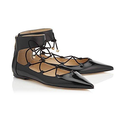 Mujer Kolnoo cordones zapatos con negro gtrptwx