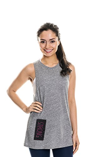 NEVA Wear Ethical Women's Activewear Muscle Tank Tops (Small, Heather Gray)