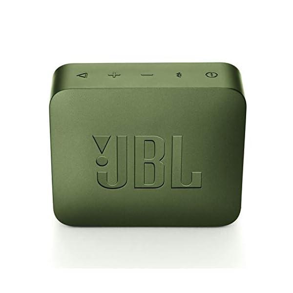 JBL Go 2 - Mini enceinte Bluetooth Portable - Étanche pour Piscine & Plage Ipx7 - Autonomie 5hrs - Qualité Audio JBL - Vert 5