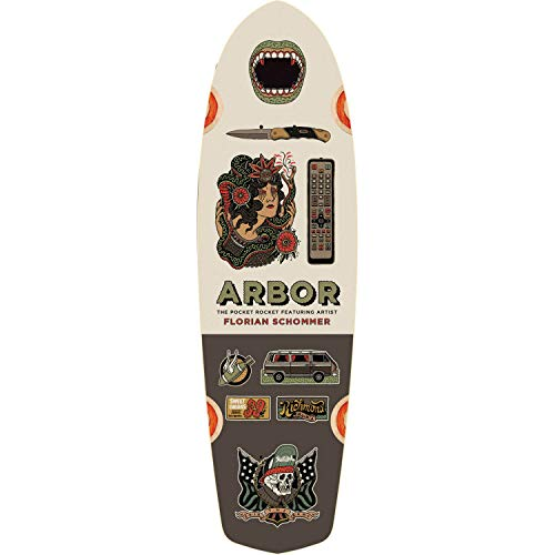 Arbor Skateboards Artist Collection Pocket Rocket Skateboard Deck - 7.75