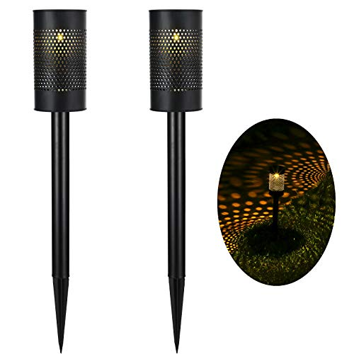DEWENWILS 2 Pack Outdoor Solar Path Lights, 10 Lumens Garden Lights Solar Landscape Lights for Lawn/Patio/Yard/Walkway/Driveway, Stainless Steel