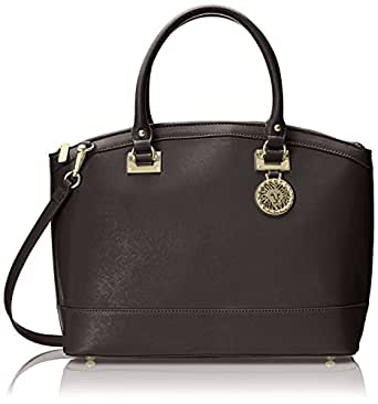 Anne Klein New Recruits Dome Large Satchel Bag, Black, One Size