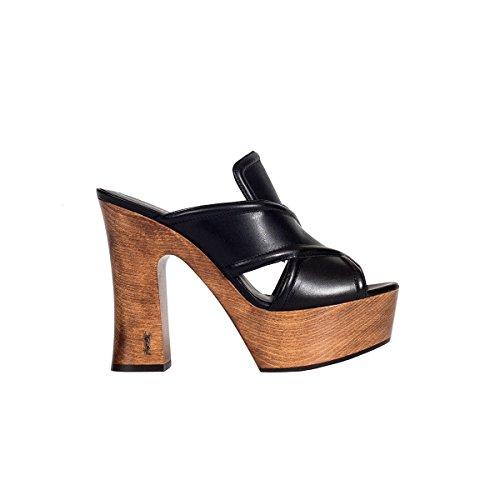 Saint Laurent Women's 457800DWLTT1000 Black Leather Sandals shop offer cheap original discount browse thND3uK0b