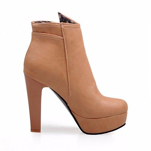 Super Shoes RFF 35 DHiver lAbricot Shoes Bottes de Taille Imperméables Womens 57qw7P60