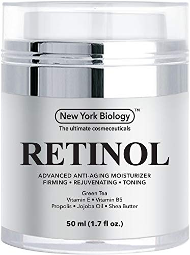 Retinol Cream Moisturizer for Face & Eye Area - Anti Aging Moisturizer Infused with Vitamin A & E - Helps to Fight the Appearance of Fine Lines & Wrinkles - 1.7 OZ