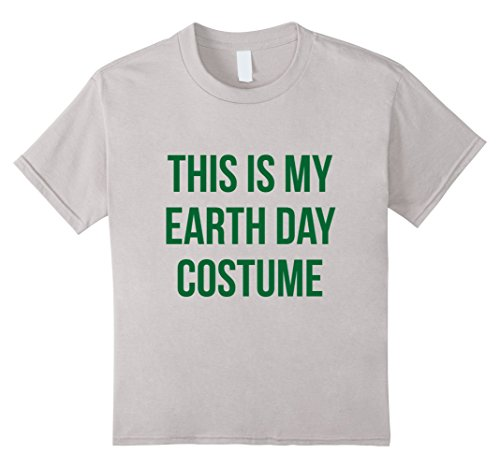 Earth Day Costumes (Kids This is my Earth Day Costume T-Shirt 4 Silver)