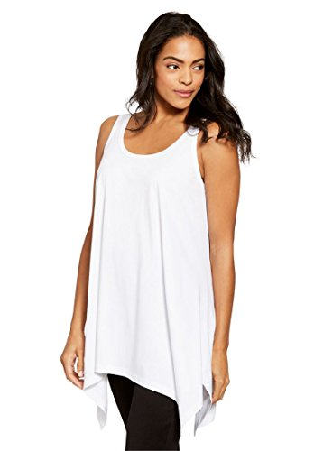 Lace Rib Tank (Jessica London Women's Plus Size Sharktail Tank)