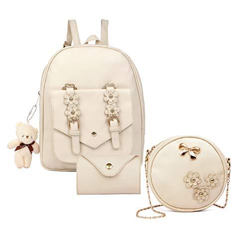 Small 10 L Backpack Girl Stylish Mini Backpack  White