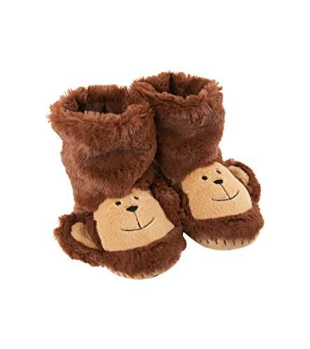 Price comparison product image Little Blue House by Hatley Kids' Toddler Hi-top Slouch Animal Slipper, Monkey, Small (5-7)