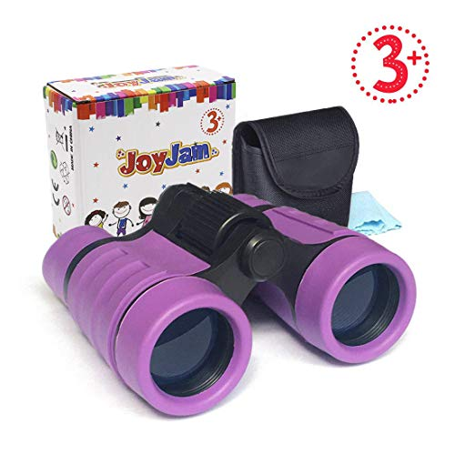 Joyjam Toys for 3-6 Year Old Girls, Girls Binoculars for Kids Pocket Small Binoculars Gifts for Girls Age 5-8 Christmas Thanksgiving Gifts Party Favors for Kids Purple